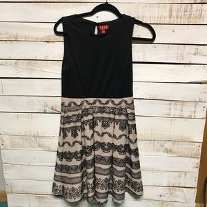 Elle, beautiful Black and Tan embroidered dress, 6
